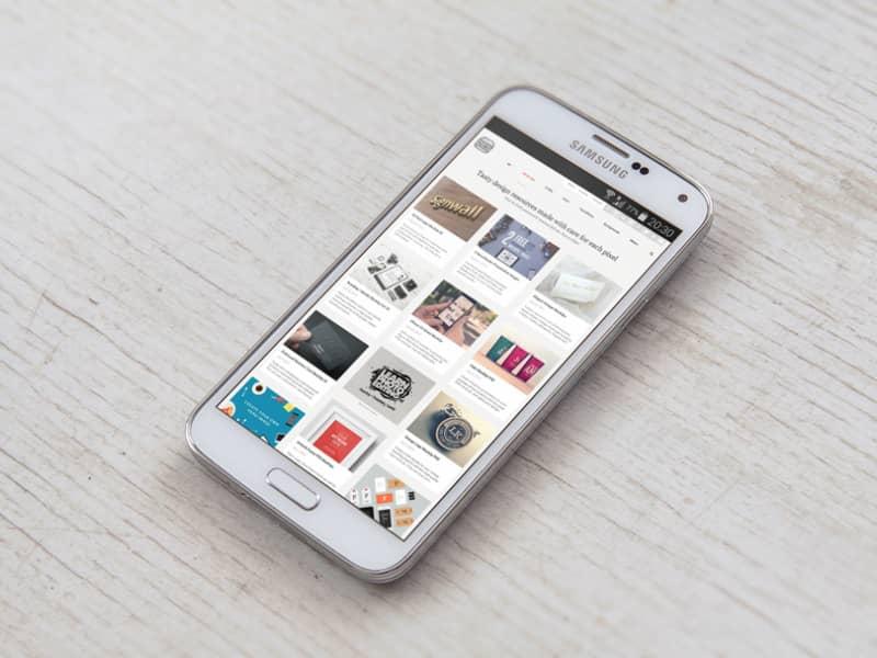 Шаблон Samsung Galaxy S5