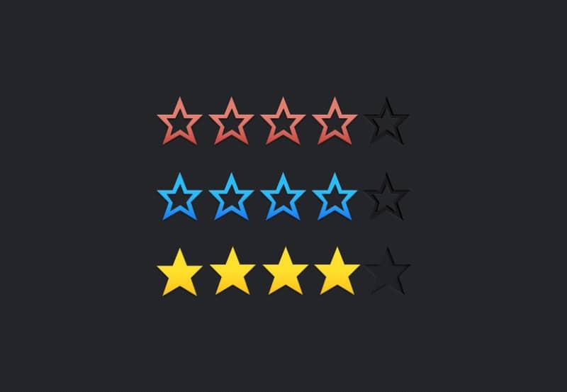 Шаблон рейтинга (5 здвезд)