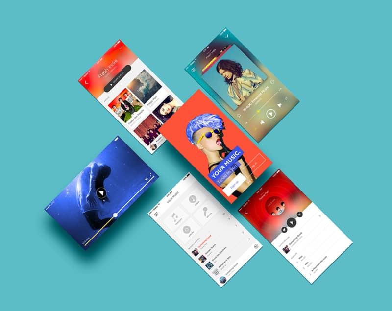Шаблон презентации приложения — App Screens Mockup