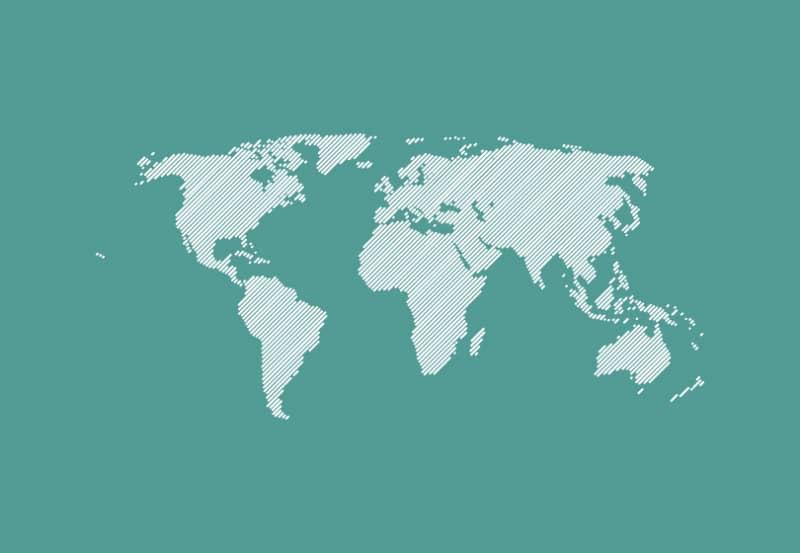 Векторная карта мира со штриховкой