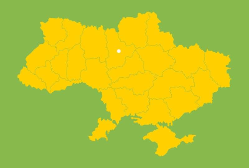 Векторная карта Украины