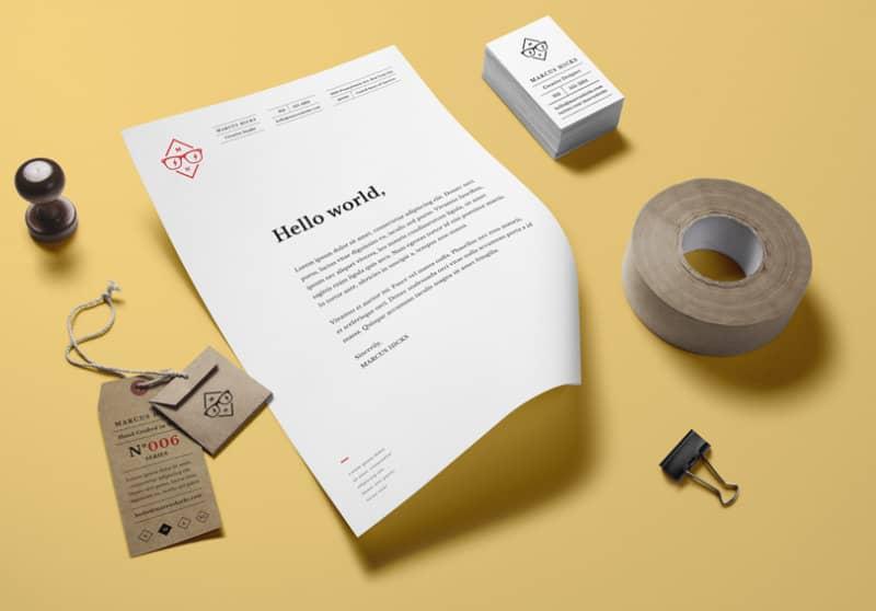 Макет для презентации фирменного стиля