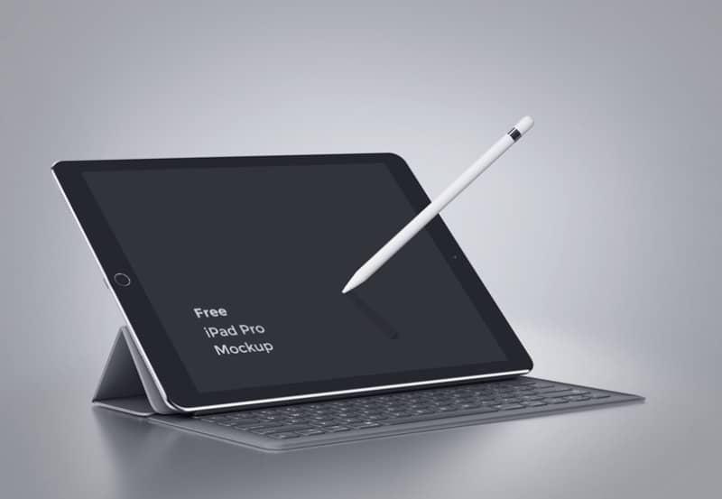 Шаблон iPad Pro с клавиатурой
