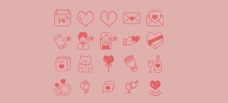 Иконки ко дню Святого Валентина
