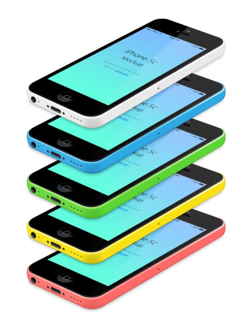 Шаблон iPhone 5C (Все цвета)