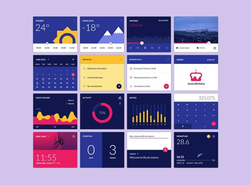 material-design-widgets-ui-kit-preview