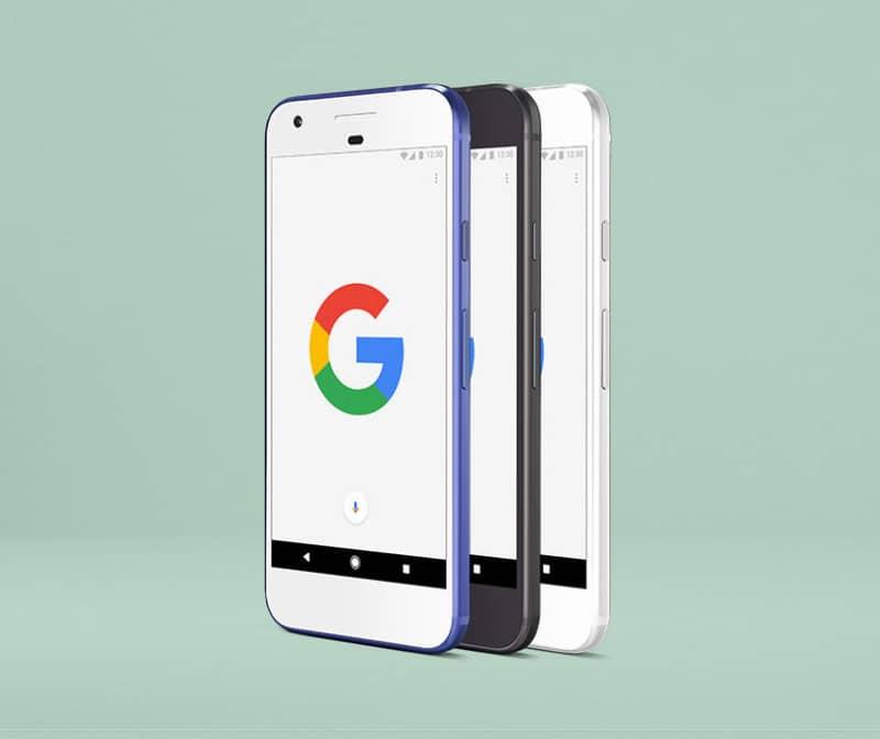 Шаблон смартфона Google Pixel