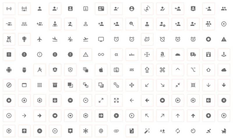 Примеры геометричных иконок