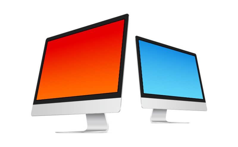 Сет из нескольких векторных шаблонов iMac