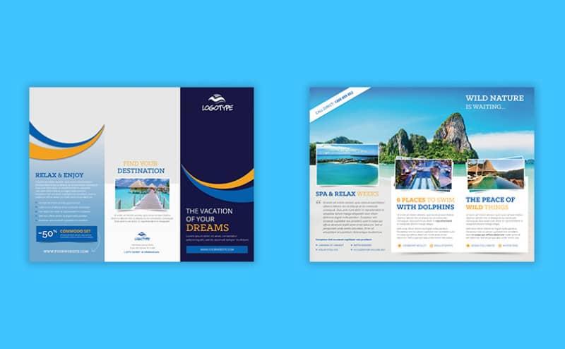 Шаблон брошюры путешествий