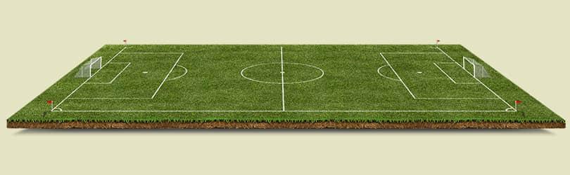 Шаблон футбольного поля 3D