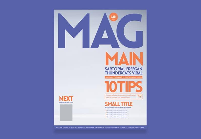 Шаблон PSD обложки журнала