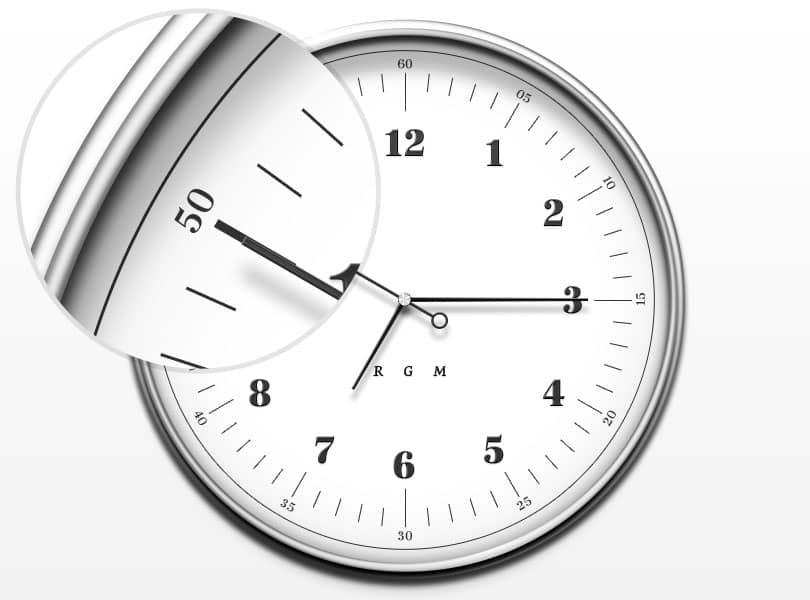 Простые и элегантные часы