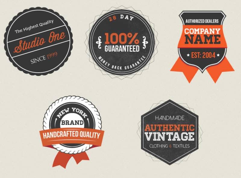 Шаблоны винтажных логотипов
