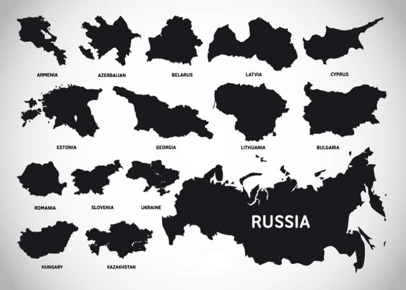 Векторные карты стран Европы