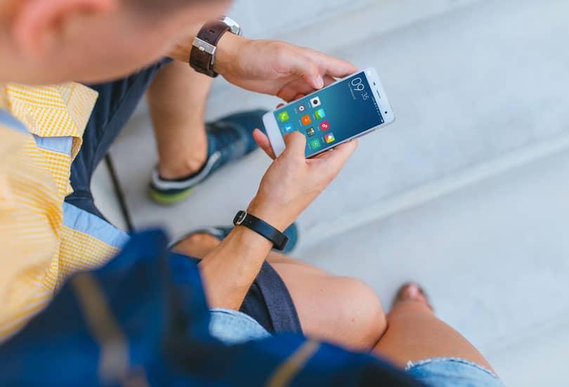 Шаблон смартфона Xiaomi Mi5