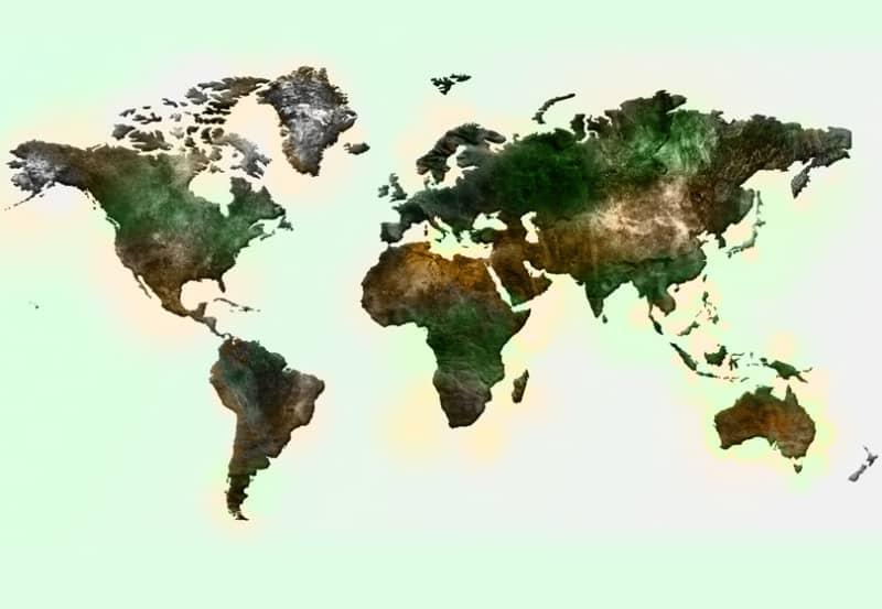 Текстурированная карта мира