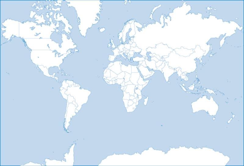 Векторная карта мира с разделением по странам