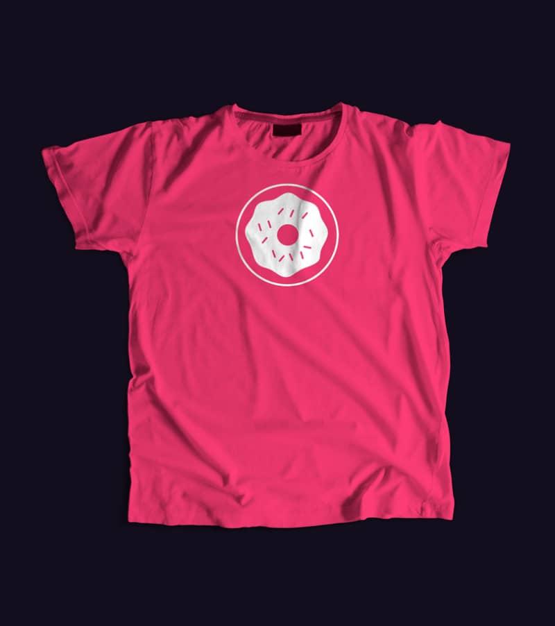 Шаблон розовой футболки