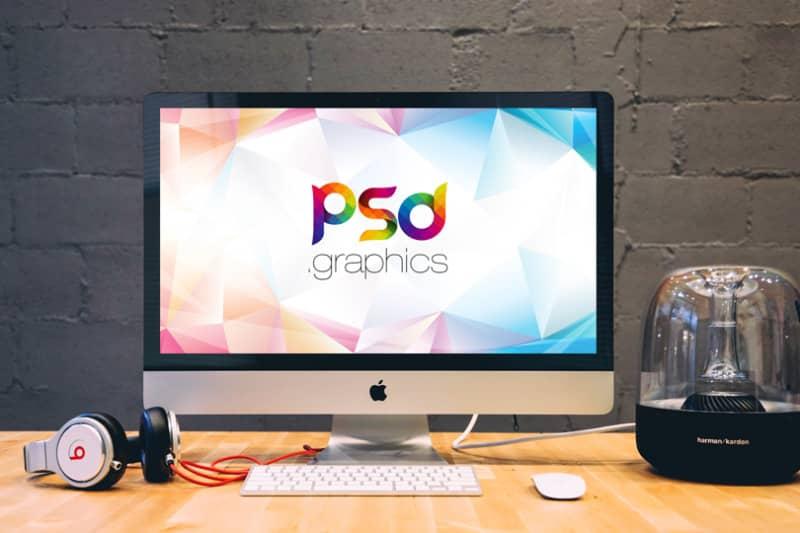 Фотошаблон компьютера Apple iMac