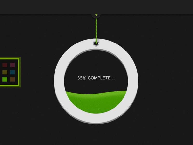 Стильная кастомизированная иконка прогресс бара с заливкой