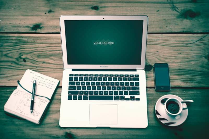 Фотошаблон ноутбука Apple MacBook Air