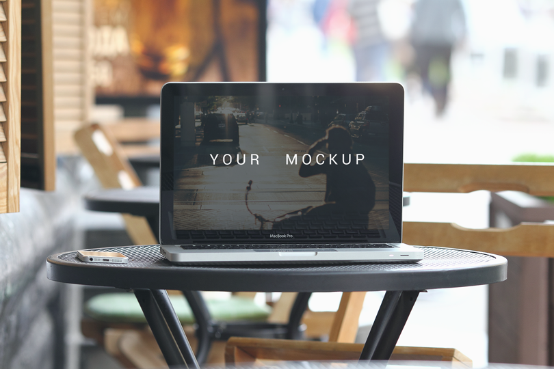 Шаблон ноутбука Apple MacBook