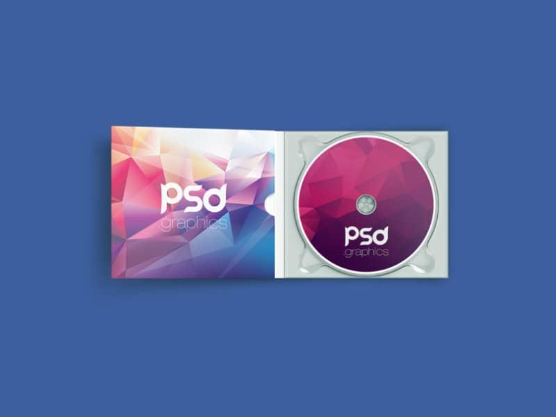 Фотошаблон коробки с компакт-диском