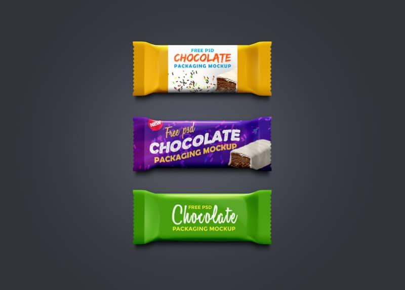 Шаблон шоколадных батончиков