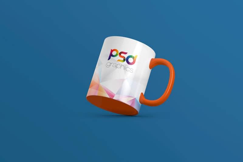 Шаблон чашки с оранжевым дном