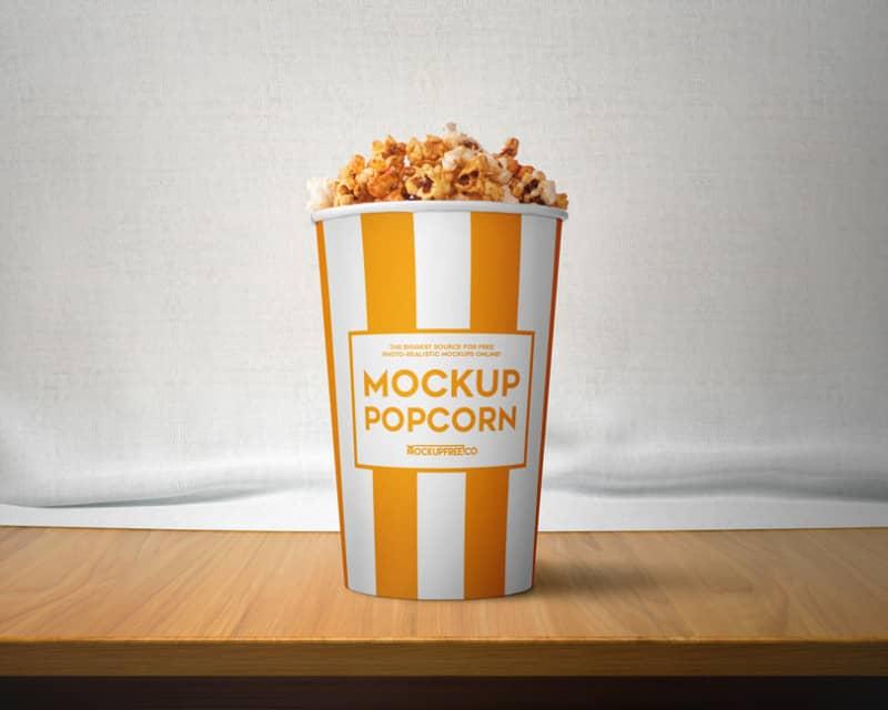 Шаблон ведра с попкорном