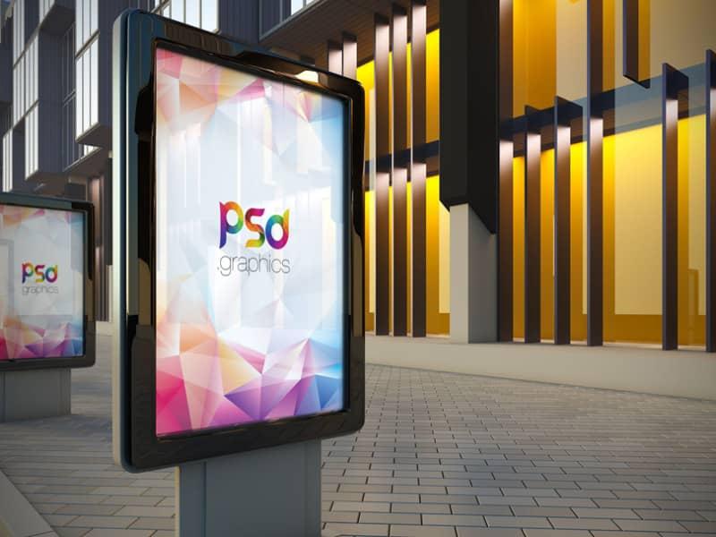 Шаблон рекламного билборда