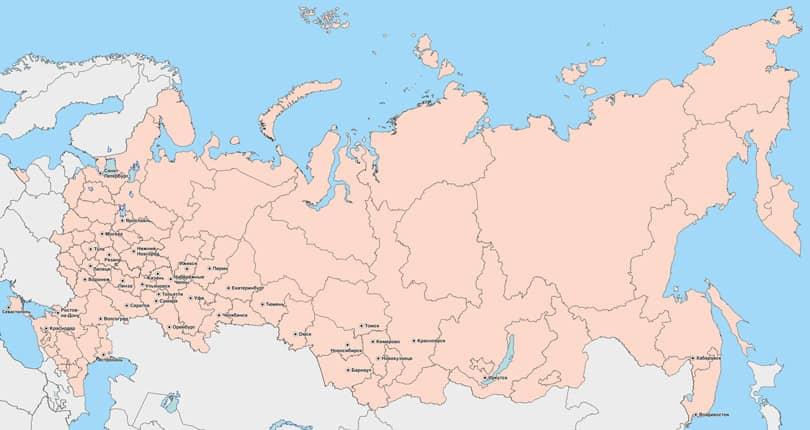 Политическая карта России вектор