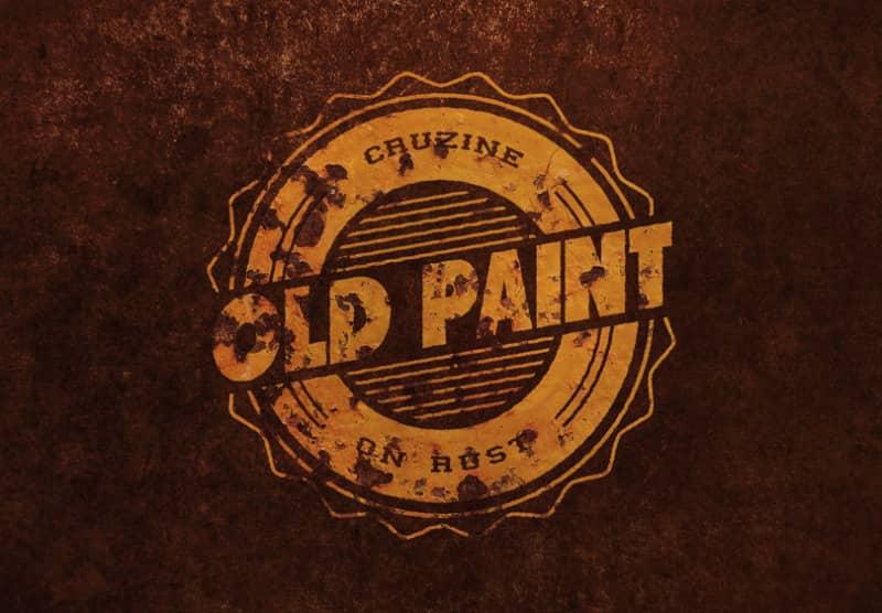 Винтажный логотип со старой краской