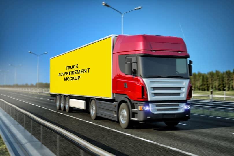 Фотошаблон грузовика