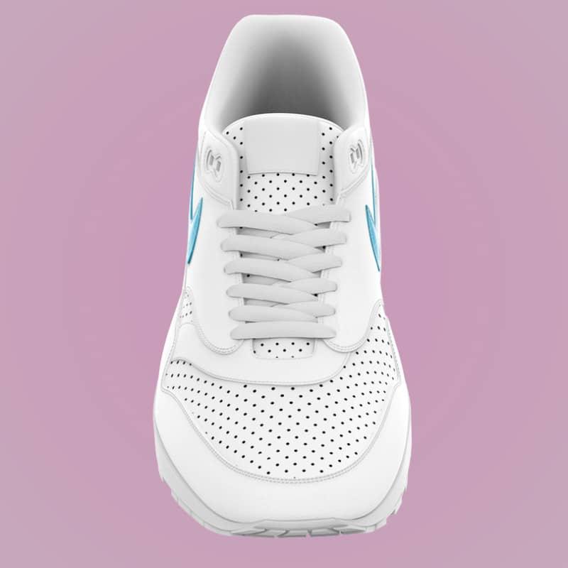 Шаблон белого кроссовка