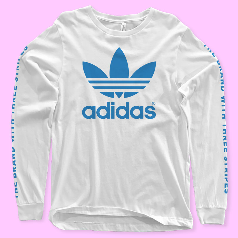 Шаблон футболки с длинными рукавами