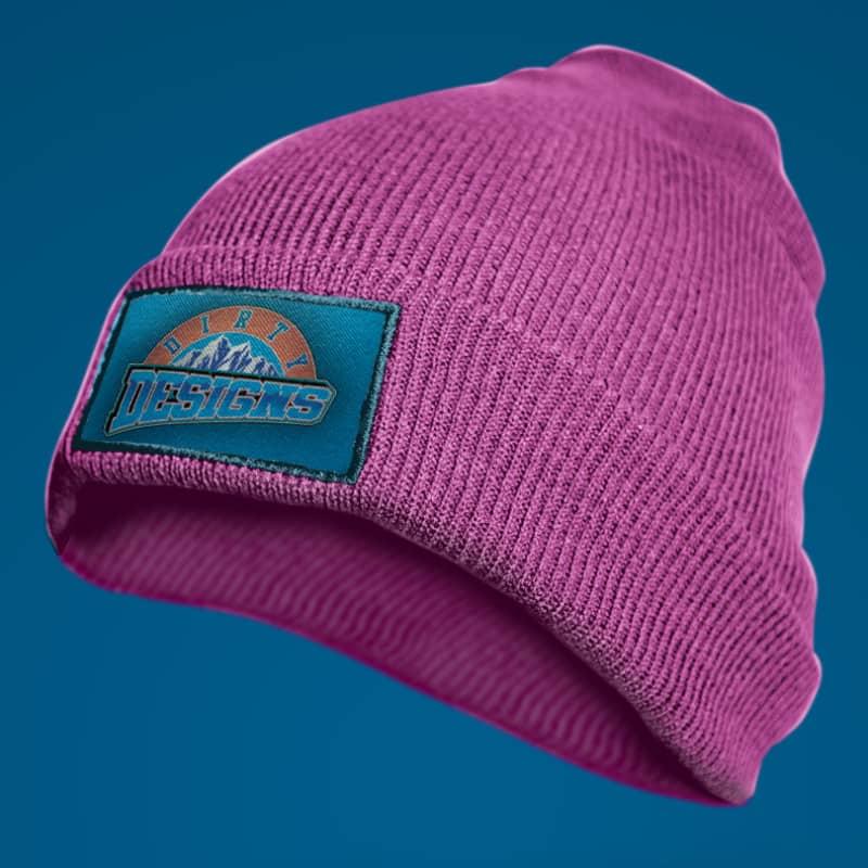 Шаблон розовой шапки