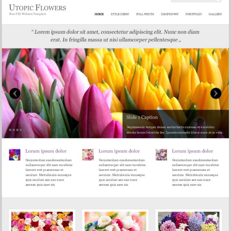 Шаблон сайта о цветах