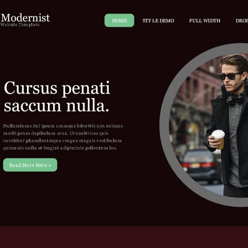 Шаблон сайта в стиле модерн