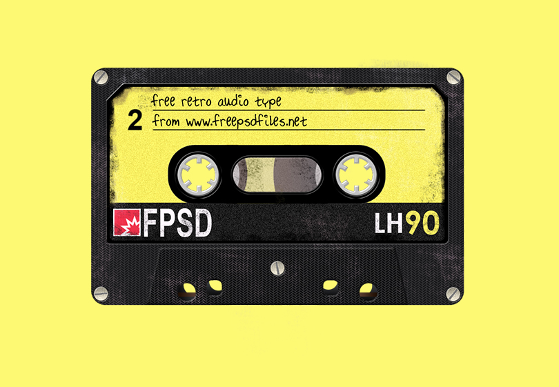 Шаблон старой аудиокассеты