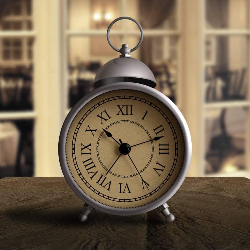 Шаблон настольных часов с римскими цифрами