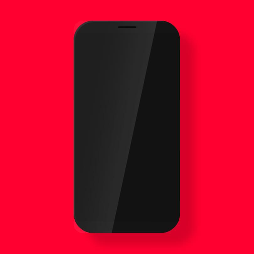 Шаблон смартфона без бренда
