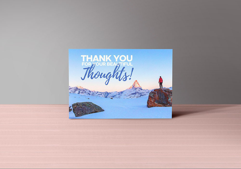Шаблон открытки «Thank You»
