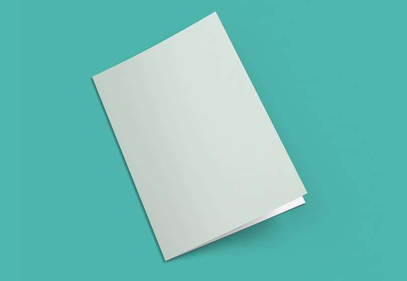 Шаблон двойной брошюры в формате А4